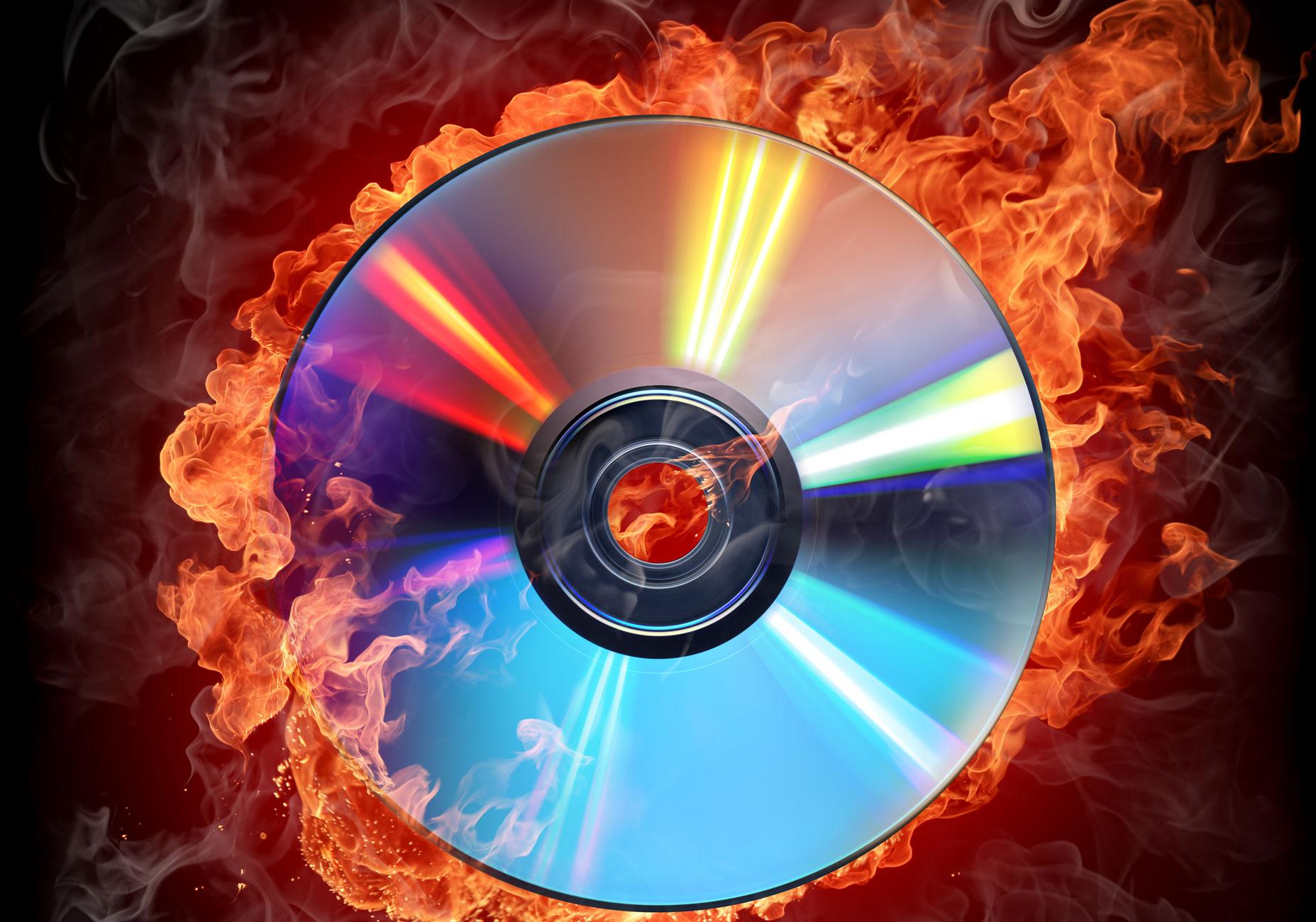 Brennende CD